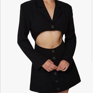 We Wore What blazer stretche crepe dress  XS NWT